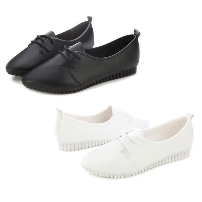 Chaussures plates de nouvelle mode vintage pour femme Bjz7O