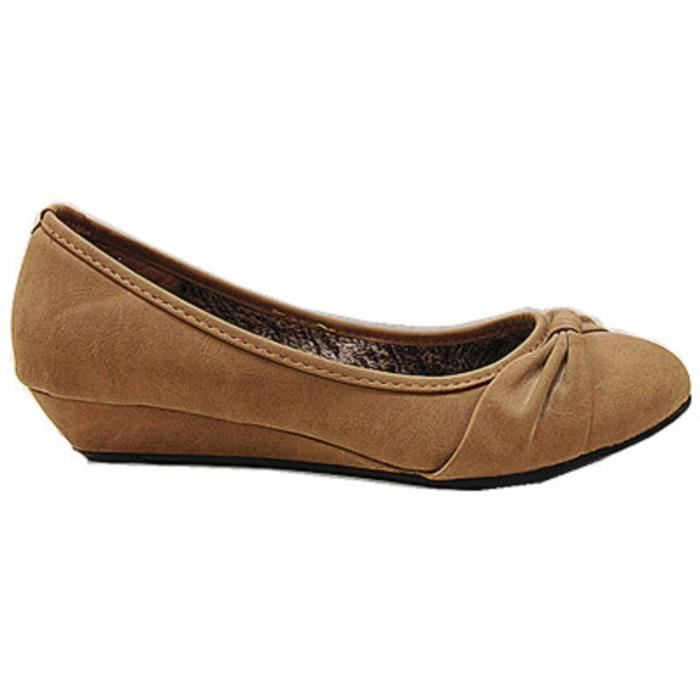 Camel Femmes Fashionfolie888 Escarpins Compense Chaussure Talons A283 1axzRxYwq