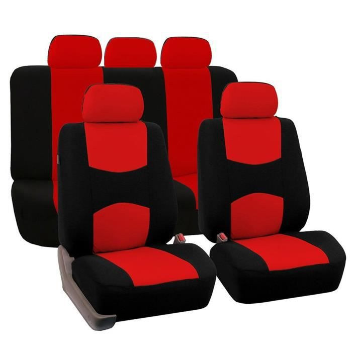 HOUSSE DE SIÈGE 9 Pcs Couvre-sièges de voiture universels Avant Ar