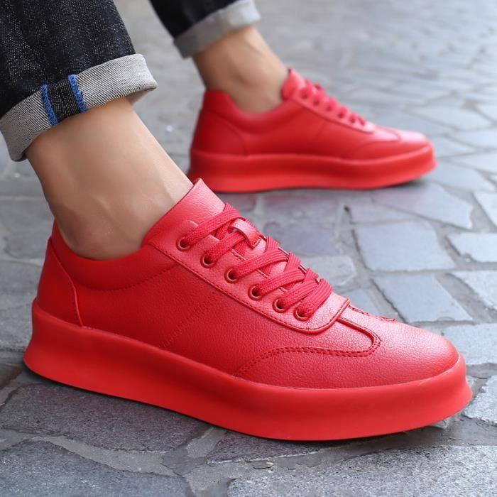 chaussures multisport Femme Automne - hiver de femme Souliers Slip-on à haut talons Mocassins vin rouge taille39 tbkePoO6