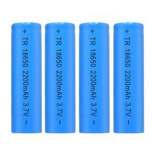 BATTERIE DOMOTIQUE 4PCS 3.7V 2200mAH Li-ion rechargeable 18650 batter
