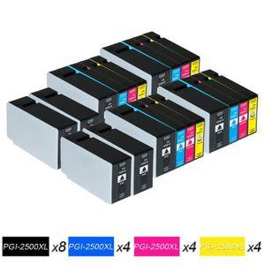 CARTOUCHE IMPRIMANTE 4 Ensembles + 4x Noir=20 Canon PGI 2500XL Cartouch