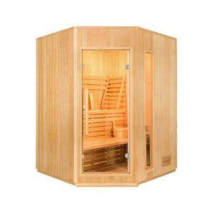 KIT SAUNA  Sauna Vapeur ZEN Angulaire - 3 Places