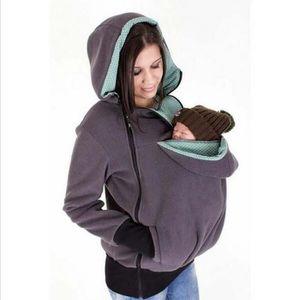 da584ea9d744 BLOUSON Maternité Femmes tirez molletonné bébé écharpe de