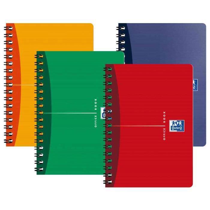 OXFORD Carnet reliure intégrale - 9 x 14 cm - 180 pages - Petits carreaux Office Essentials