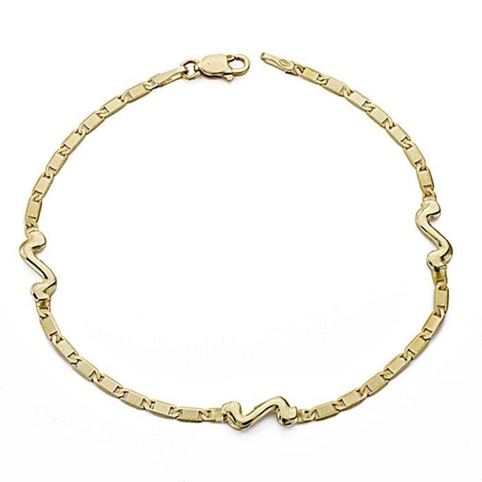 18k bracelet or fin 18cm. motifs [8043]