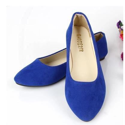 Version coréenne de chaussures chaussures plates simples chaussures multicolores, bleu 38