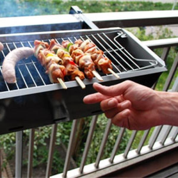 barbecue de balcon bbq grill achat vente barbecue de balcon bbq gril pas cher cdiscount. Black Bedroom Furniture Sets. Home Design Ideas