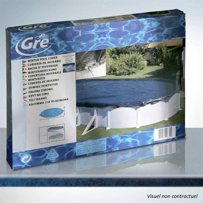 gre bâche hivernage piscine ovale 610x375 ou 500x340 - 100gr/m² ... - Bache D Hivernage Pour Piscine Hors Sol