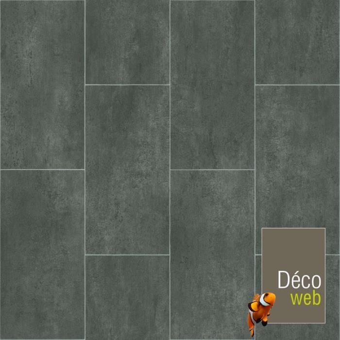 2 x 4m - sol pvc best - motif carrelage gris foncé marbré - achat