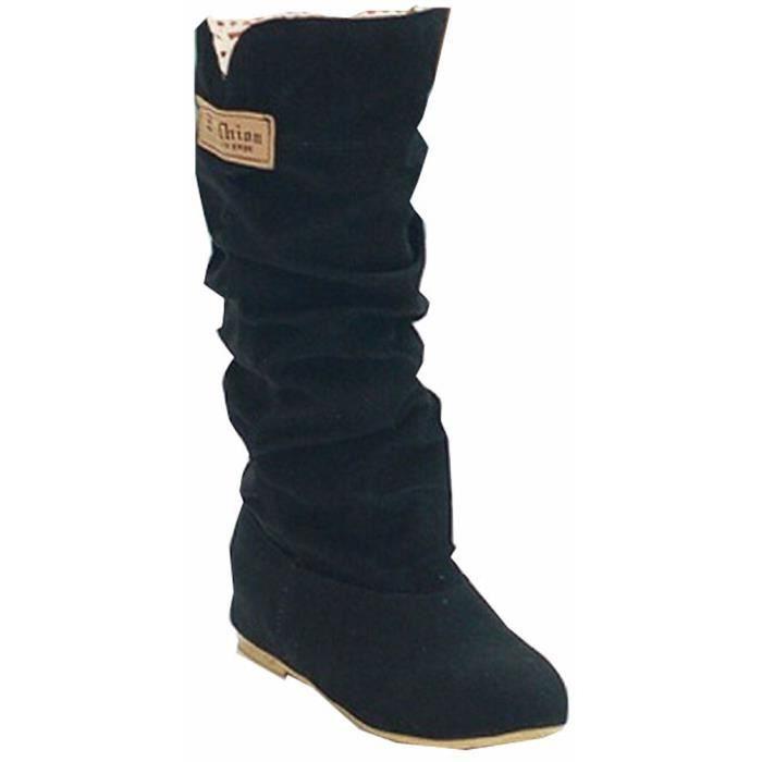 grande taille 34,5 à 41,5 Automne Hiver chaussures plates femmes chaussures casual bottes de neige douce