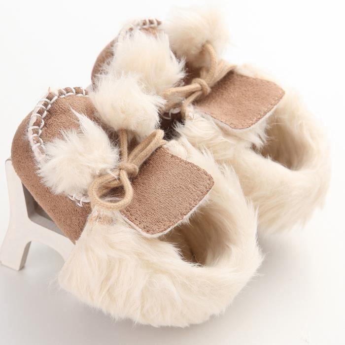Marron-Chaussures de bébé Hiver Nouveau Loisirs Garde au chaud Fond mou Chaussures de bébé en bas âge QupGIf3T