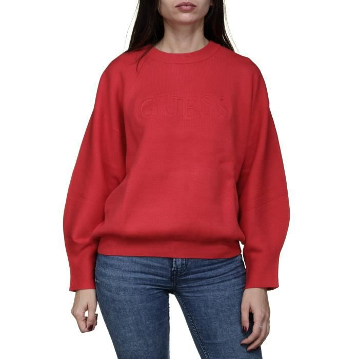 Pull femme Guess W84r79 - Z26i0 G5a6 Rouge Rouge Rouge - Achat ... ce2613d271e