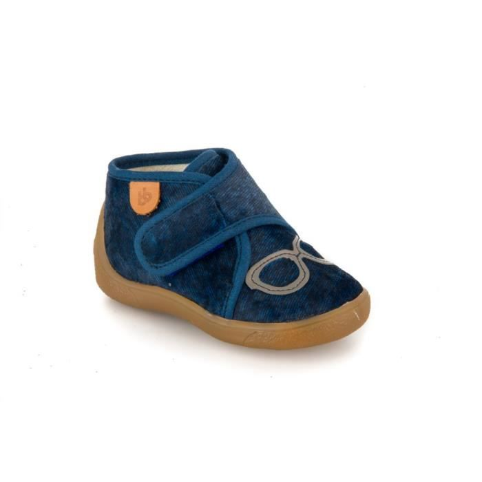 014ee2591c914 Babybotte Chaussons Garçon bleu MASQUE Bleu Bleu - Achat   Vente ...