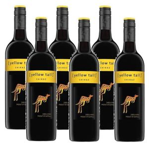 VIN ROUGE Yellow Tail Shiraz Vin Rouge 6 x 0,75l
