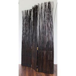 PARAVENT Paravent 3 panneaux en osier brun PAR06031