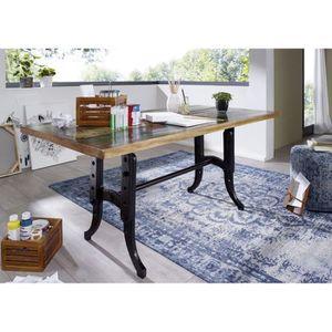 TABLE À MANGER SEULE Table à manger 180x90cm - Fer et bois massif recyc
