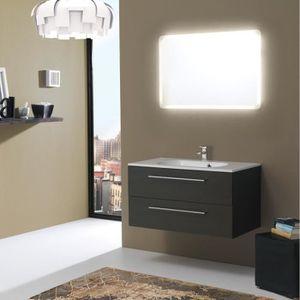 Meuble salle de bain avec vasque 90 cm achat vente pas - Meuble salle de bain 90 cm lapeyre ...