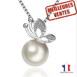 SAUTOIR ET COLLIER LCC® Collier bijoux Femme fille orginal en Argent
