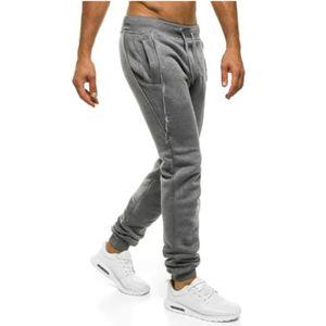 Pantalon survetement homme noir poche zip - Achat   Vente pas cher 657d605b74de