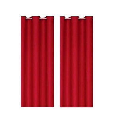 Paire de rideaux occultants ROUGE 140x260cm - Achat / Vente rideau ...