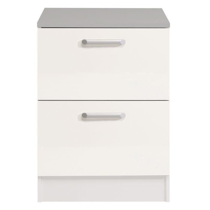 cook meuble bas de cuisine 60 cm avec plan de travail inclus dcor blanc et gris achat vente elements bas cook elment bas 60cm blanc structure