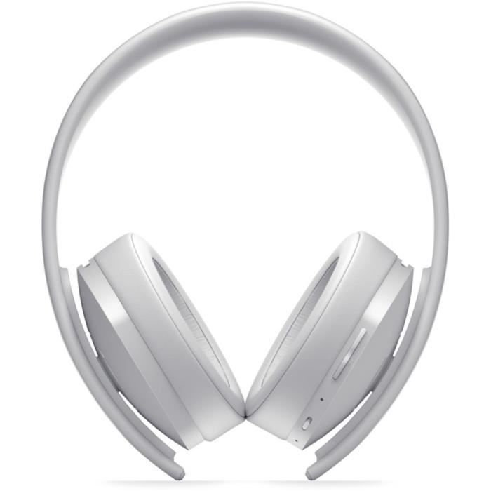 Casque Sans Fil Gold White Sony Virtual Surround Sound 71 Pour Ps4