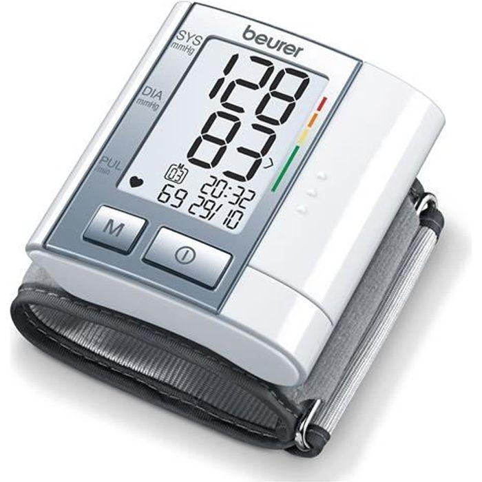 Tensiomètre de poignet BEURER BC 40 - 60 emplacements de mémoire - Taille de poignet de 12,5-21,5 cm