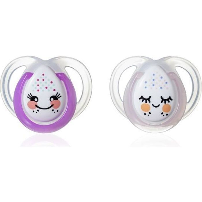 TOMMEE TIPPEE 2 Sucettes CTN Nuit 0-6m