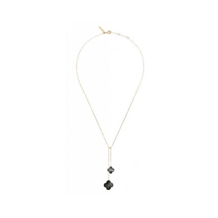 21bc416e303de Collier Morganne Bello / Hématite / Onyx / Or jaune - Achat / Vente ...