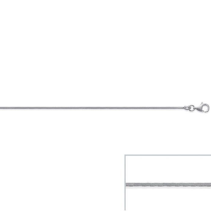 Chaine argent maille SERPENT Carré largeur 1,2mm (40 cm)
