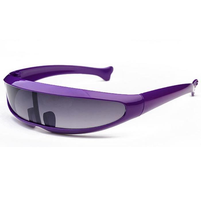 100% UV400 lunettes de soleil de dauphins unisexe, style sportif, violet