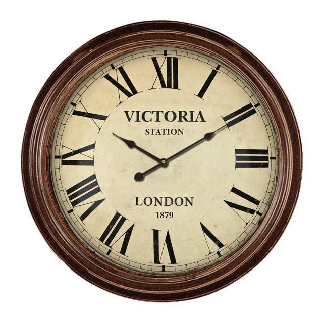 pendule anglaise victoria station achat vente horloge pendule soldes d s le 10 janvier. Black Bedroom Furniture Sets. Home Design Ideas