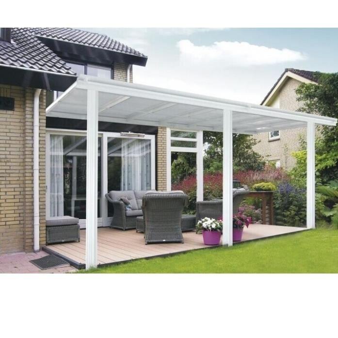 pergola toit terrasse en aluminium 3x5m achat vente. Black Bedroom Furniture Sets. Home Design Ideas