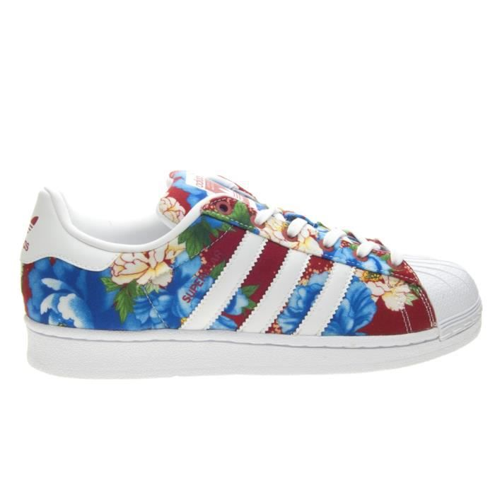 0754863595 BASKET ADIDAS SUPERSTAR W TAILLE 40 COD BA7585 Rouge Rouge - Achat ...
