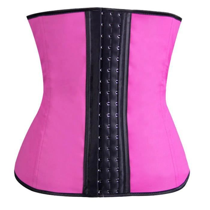 Waist Minceur Latex Fuchsia Pour Ventre Corset Femme Serre Taille Plat Training xnqCwUXCR