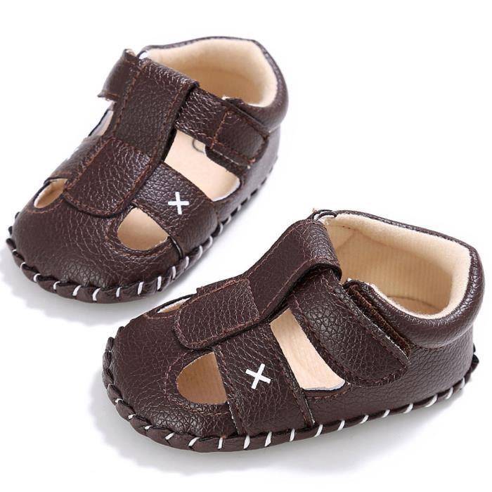 3eed1faeea0b7 Frankmall®Bébé fille garçon Semelle molle berceau enfant sandales  chaussures simple MARRON WQQ0926459