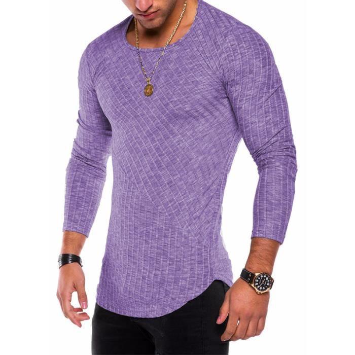 Col Shirt Sweatshirt Rond Masculin Serré Hommes Vêtement Homme Bleu T f7bYgyv6
