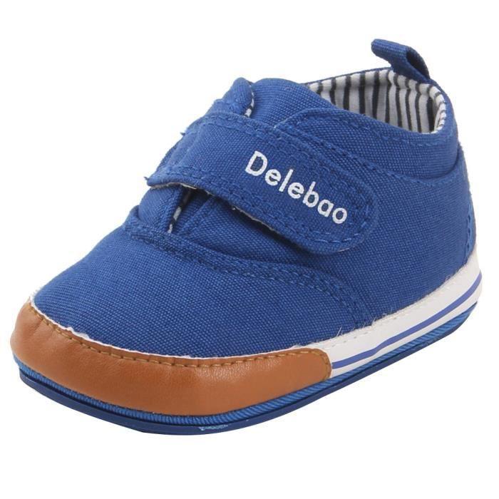 BOTTE Printemps Automne Walker Bébé Chaussures Garçon Fille Doux Semelle Dentelle Sneaker@BleuHM
