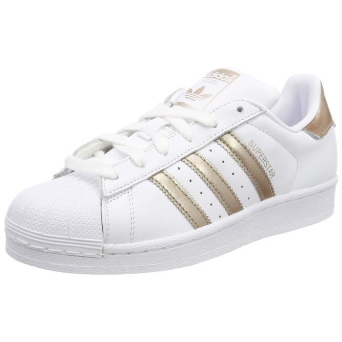 acheter populaire 17474 feeaa Adidas Baskets basses superstar pour femme, blanc - argent 3LYL7P Taille-36  1-2