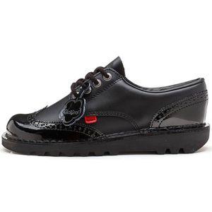 Lo amp; Classic 110689 Noir School Brogue Noir en Chaussures Kickers to Patent Kick Femmes Back qPRwxEZH