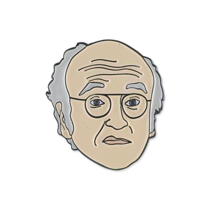 Womens Larry David Comedian Celebrity Enamel Lapel Pin D4DEA