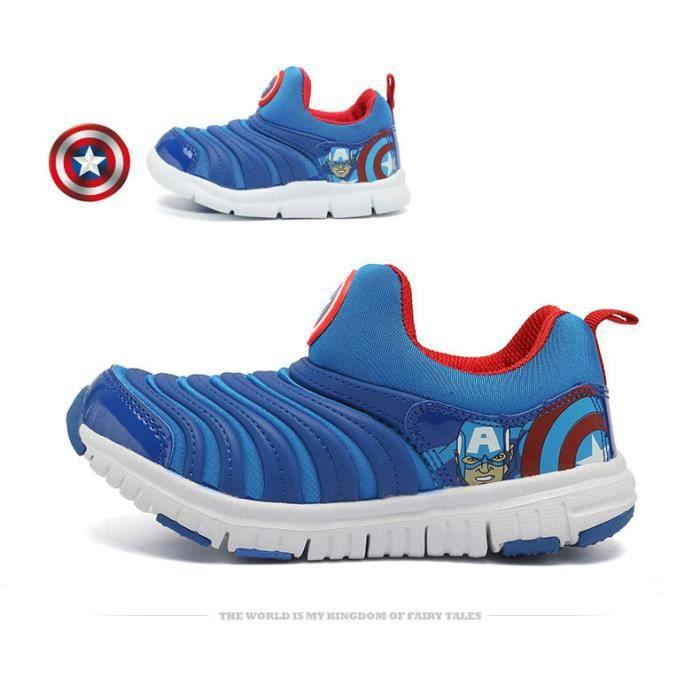 Basket Unisexe Chaussures pour enfants chaussures à chenilles chaussures de sport respirantes KRY47