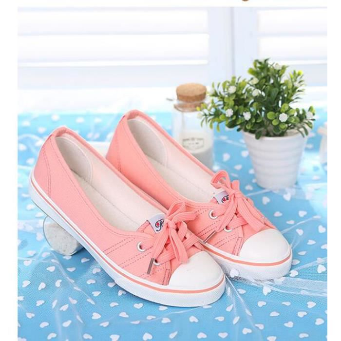 Toile Toile coul chaussures chaussures Femmes Bonbons solide Femmes chaussures Bonbons Toile Les solide Les coul grawgqf