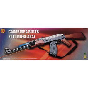 Carabine Fusil a billes Ak 47 Laser et lampe - Prix pas cher