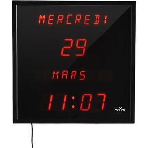 HORLOGE - PENDULE ORIUM Horloge LED à date digitale - 28x28 cm - Noi