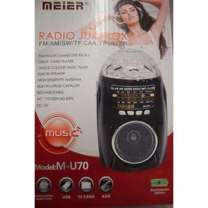 RADIO CD CASSETTE Poste Radio Rechargeable Vintage Jeu de Lumière LE