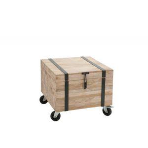 coffre en bois naturel achat vente pas cher. Black Bedroom Furniture Sets. Home Design Ideas