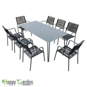 Salon De Jardin Capua 180 | Capua 180 Table De Jardin 8 Places Alu Textilene Achat Vente