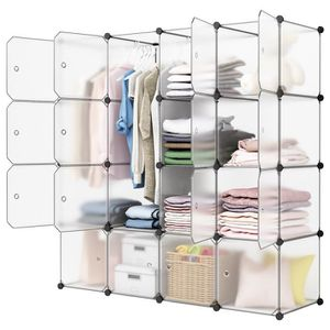 ARMOIRE DE CHAMBRE Langria 16-Cube Penderie Armoire de Chambre Modula